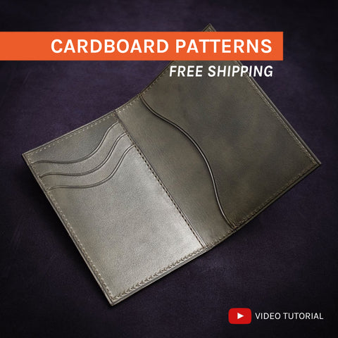 BIFOLD CARD HOLDER - cardboard patterns + video tutorial