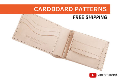 BIFOLD WALLET II - cardboard patterns + video tutorial