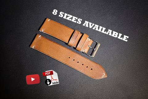 Download pdf patterns for leather watch straps in all kind of lug widths