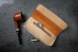 download the templates to make a leather pipe pouch yourself