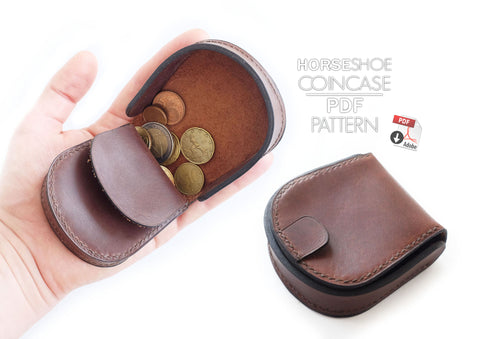 HORSESHOE COIN CASE - PDF patterns + video tutorial