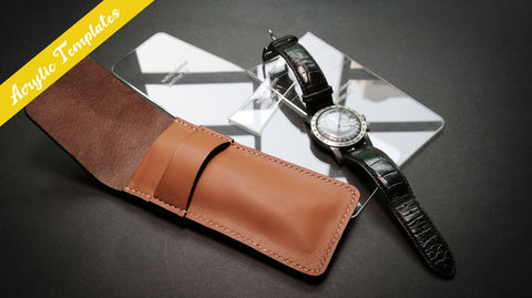 leather watch pouch acrylic patterns DIY