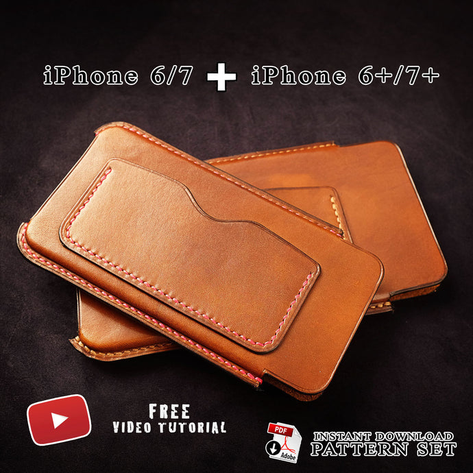 Download pdf patterns for leather iphone 6 and 7 cases