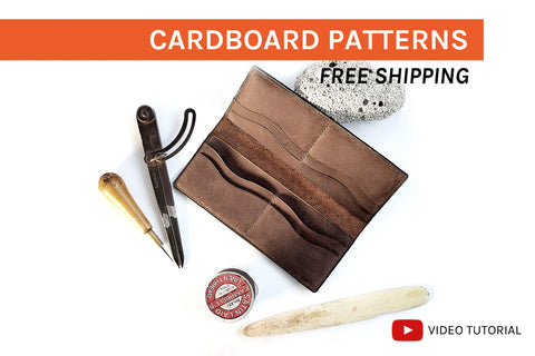 LONG WALLET I - cardboard patterns + video tutorial