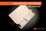 LONG WALLET II -  cardboard patterns + video tutorial