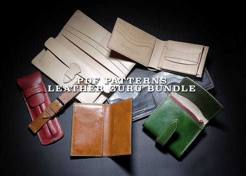 LEATHERCRAFT GURU BUNDLE (-30%) - PDF patterns + video tutorial