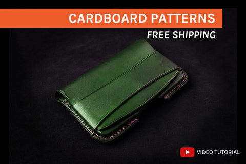 MOLDED CARD HOLDER - cardboard patterns + video tutorial