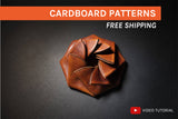 ORIGAMI COUN POUCH I - cardboard patterns + video tutorial