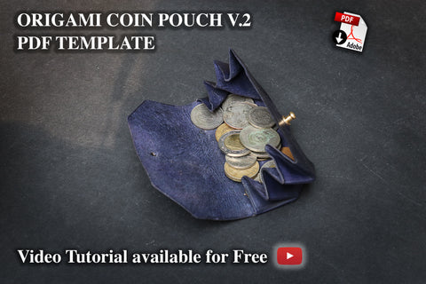 ORIGAMI COIN POUCH II - PDF patterns + video tutorial