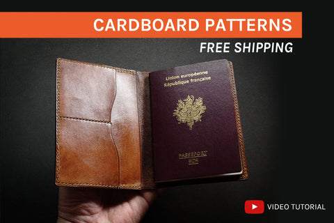 PASSPORT HOLDER - cardboard patterns + video tutorial