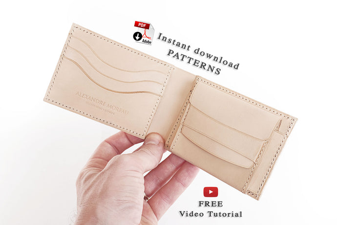 Bifold wallet patterns download + free video tutorial