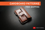 STRAP CARD HOLDER - cardboard patterns + video tutorial