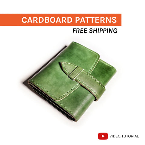 STRAP CLOSURE WALLET - cardboard patterns + video tutorial