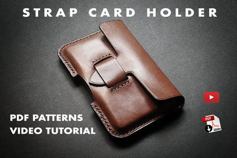 pdf pattern and video tutorial to make a molded card holder