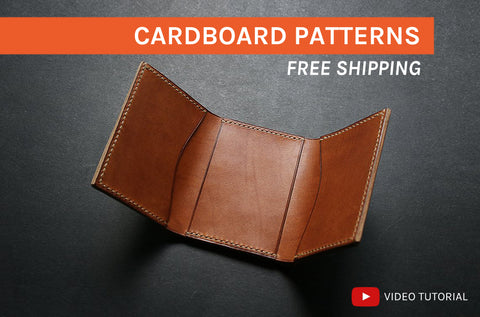 TRIFOLD WALLET - cardboard patterns + video tutorial