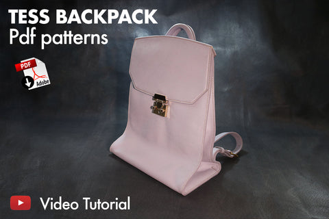 TESS BACKPACK - PDF PATTERNS + VIDEO TUTORIAL