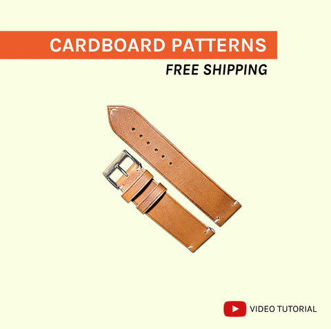 WATCH STRAPS (4 OR 8 SIZES) - cardboard patterns + video tutorial
