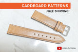 WATCH STRAPS PRO (4 OR 8 SIZES) - cardboard patterns + video tutorial