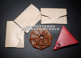 Beginner leather craft pattern bundle save 20%