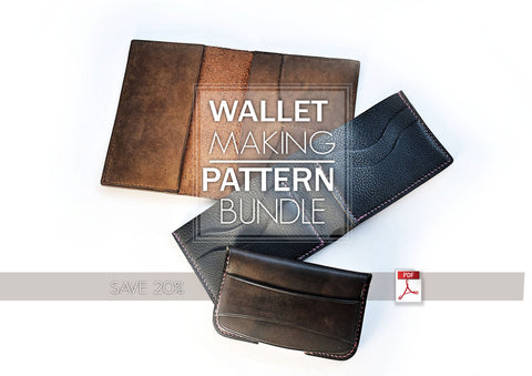 WALLET, PASSPORT HOLDER & CARD HOLDER BUNDLE - PDF patterns + video tutorials