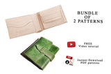 2 WALLETS BUNDLE - PDF patterns + video tutorial