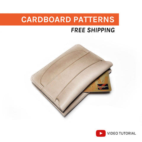 DOUBLE FLAP & SECRET POCKET WALLET - cardboard patterns + video tutorial