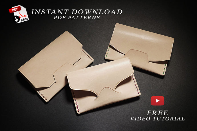 Download pdf patterns for leather card holder cases
