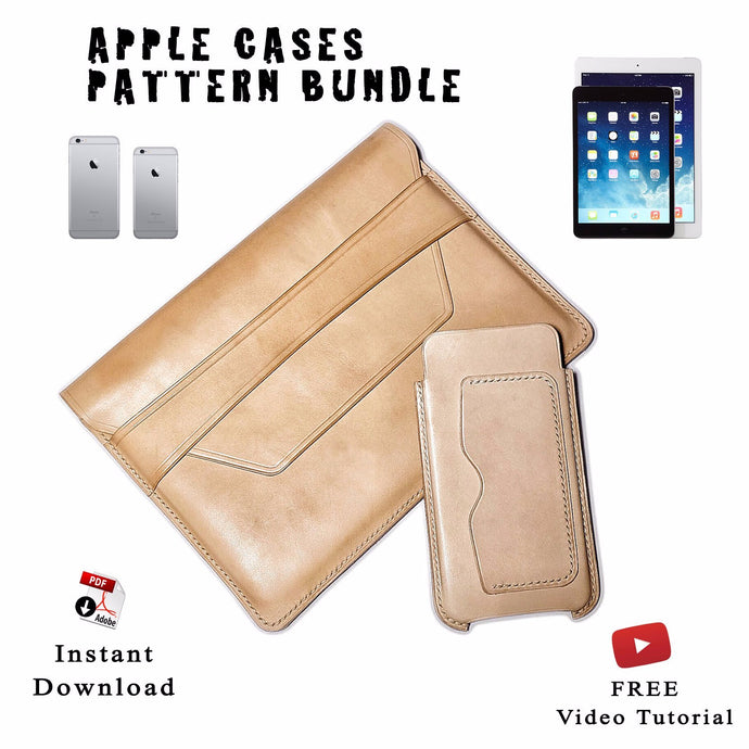 Download pdf patterns for apple products leather cases • leather craft