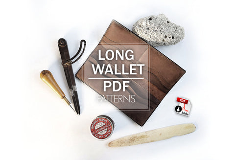 LONG WALLET I - PDF patterns + video tutorial