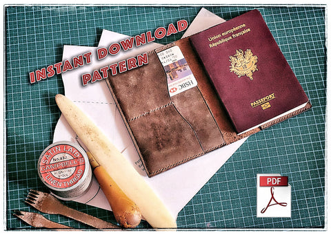 Download pdf patterns for passport holder • digital leather craft patterns