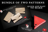 EASY LEATHERCRAFT PROJECT BUNDLE - PDF patterns + video tutorial