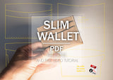 SLIM WALLET - PDF patterns + video tutorial