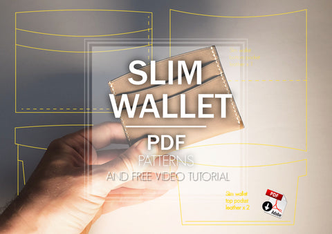 Slim card holder patterns & video tutorial