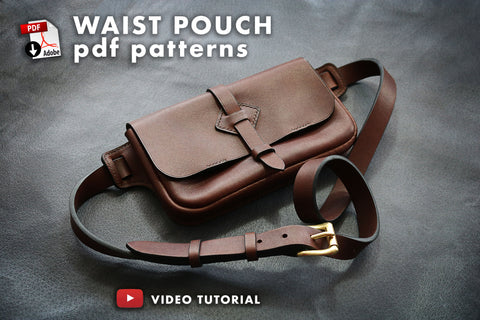 PDF templates to make a leather waist bag