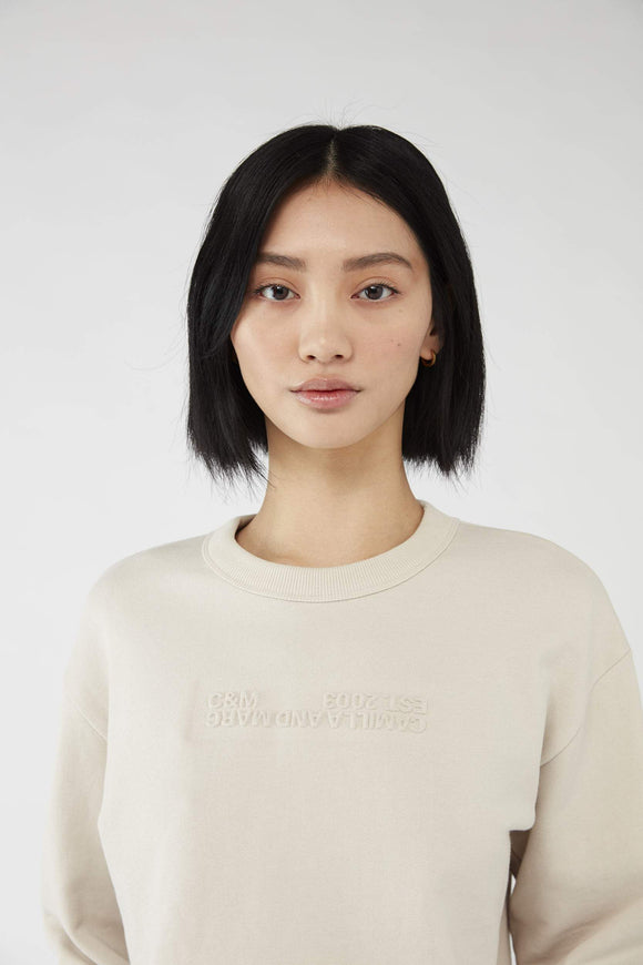 Josef Cropped Sweater | Bone