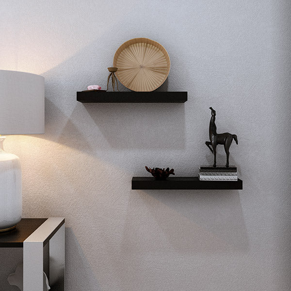 black floating shelf nightstand hanging decor