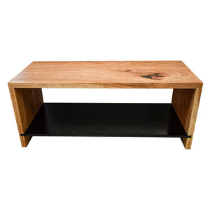 Kaylene Waterfall Grain Entryway Wood Storage Bench