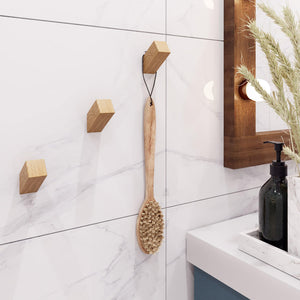 Luna Wood Wall Hooks (Set of 3) - emark