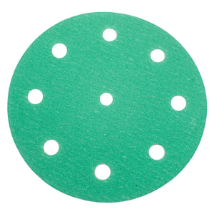 "5"" (125mm) Hook & Loop Green Sanding Discs - 10 PACK"