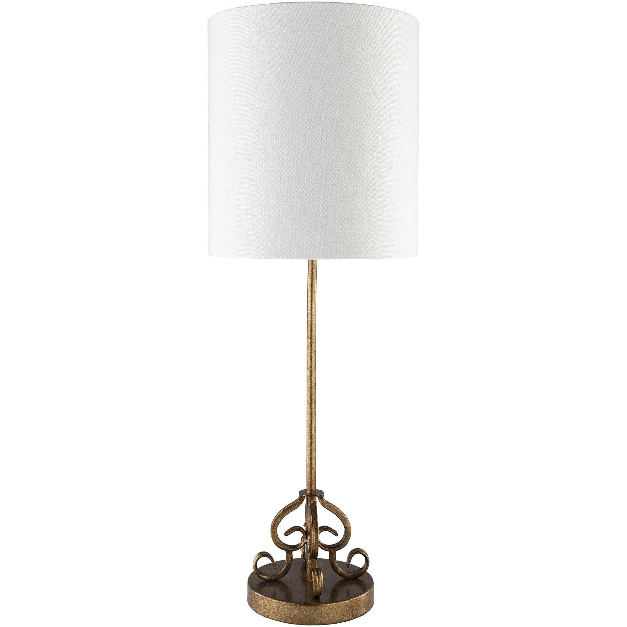 gold accent decorative modern table lamp