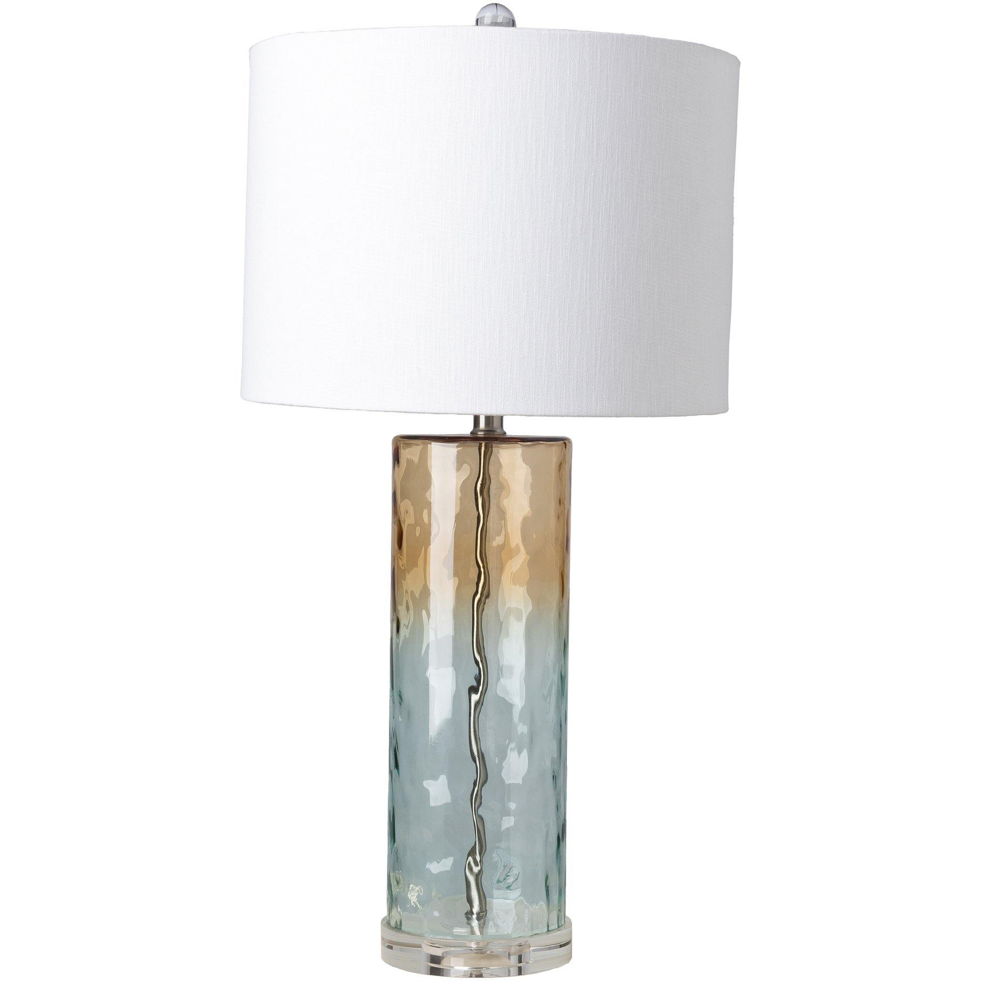 modern coastal glass table lamp