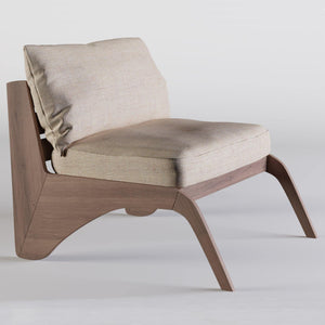 Contouri Wood Lounge Chair - emark