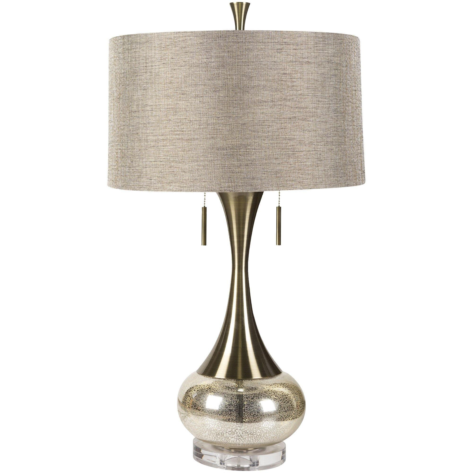 aged brass modern table lamp