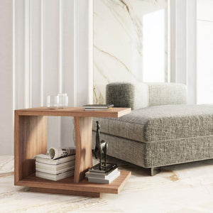 Malory Wood Accent Table - emark