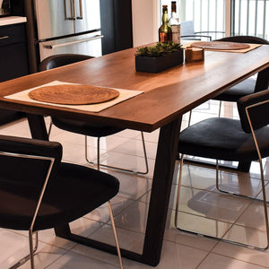 handmade walnut dining table modern