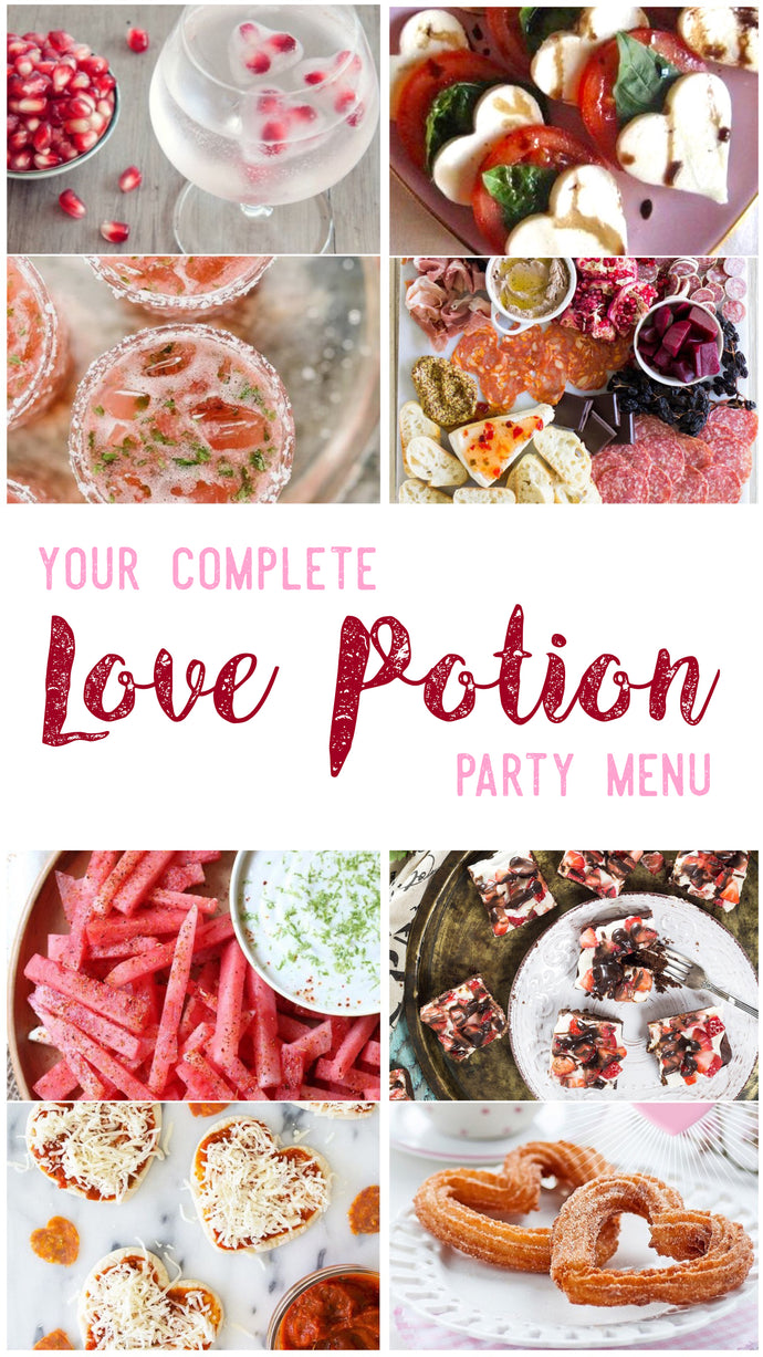 Love Potion Party Menu