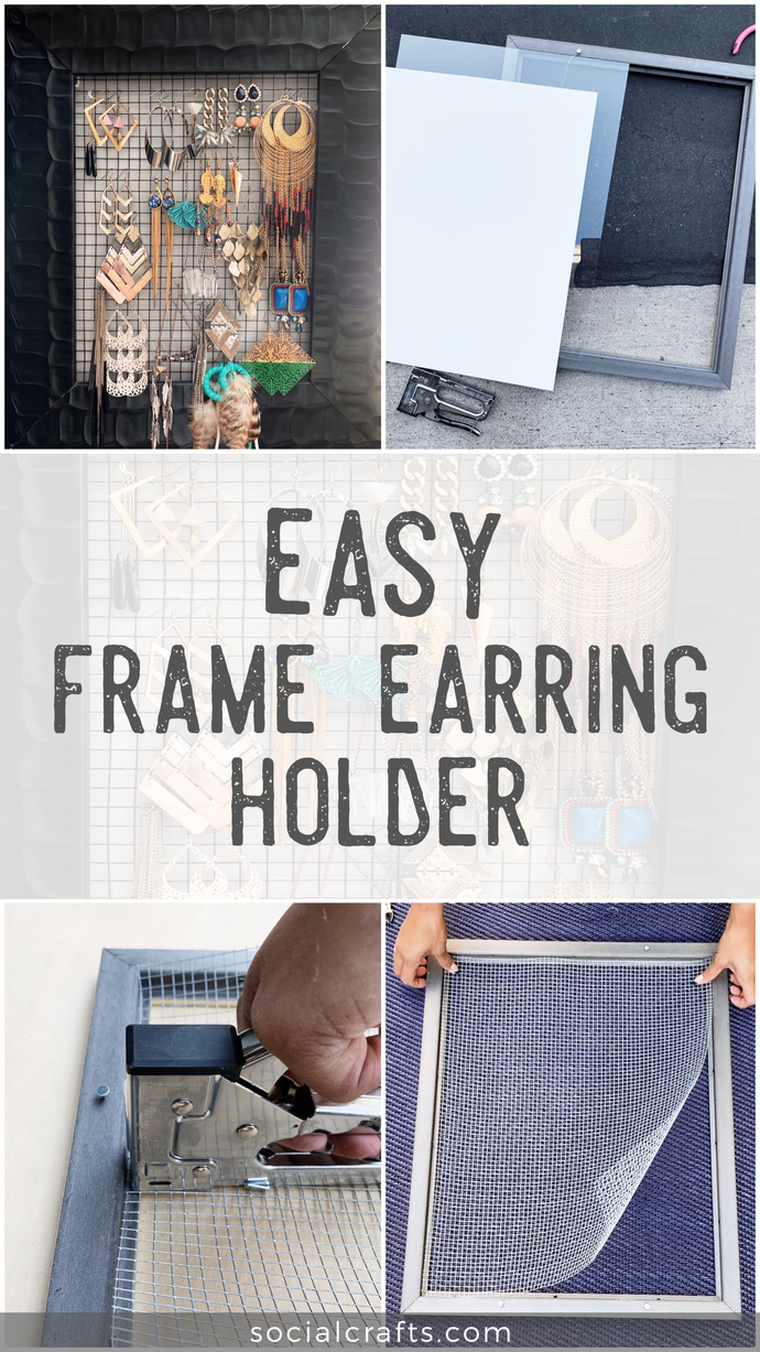 EASY DIY Frame Earring Holder