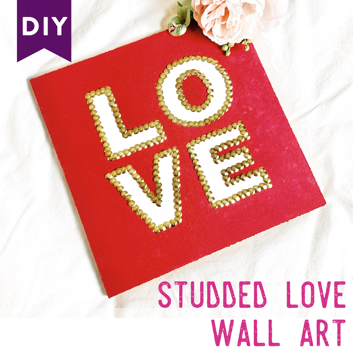 Thumbtack Art Decor - DIY LOVE Craft