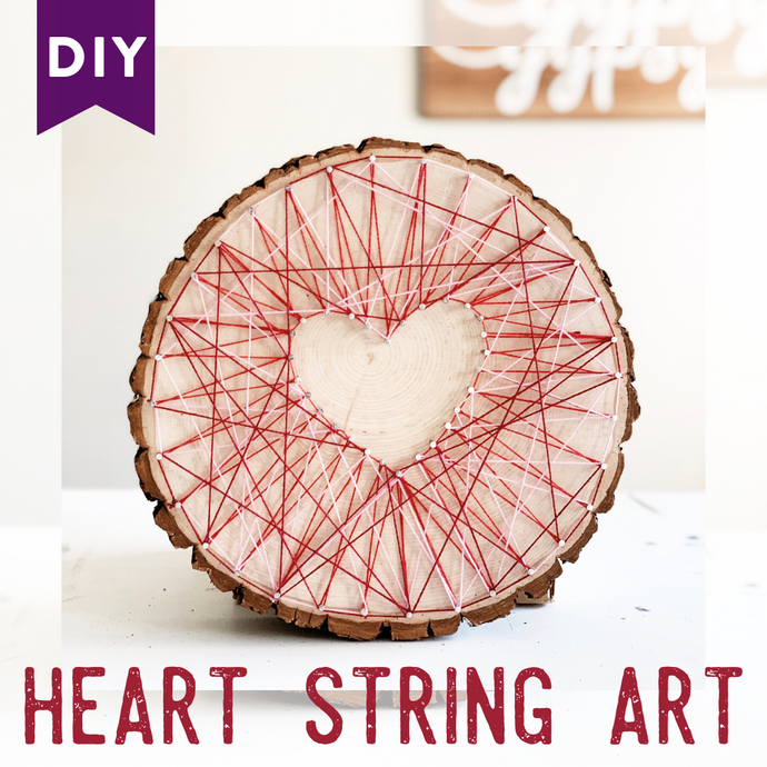 Heart String Art DIY - Valentine's Day Craft Idea