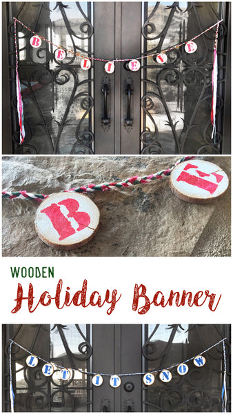Wooden Holiday Banner